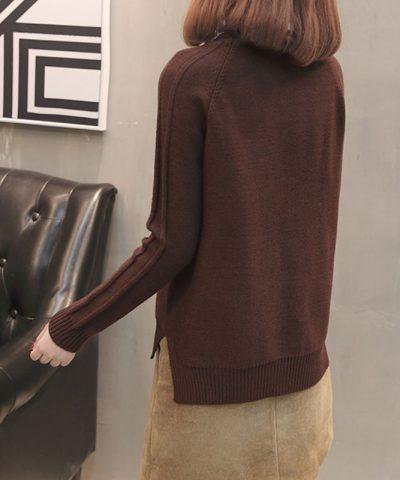 Áo len kiểu 2 đường dập nổi tay dài hình 4