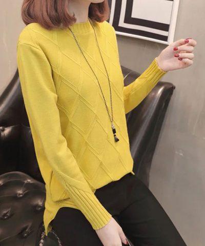 Áo len kiểu hình thoi viền đôi hình 2