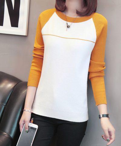 Áo len phối màu tay - hàng nhập Quảng Châu hình 1