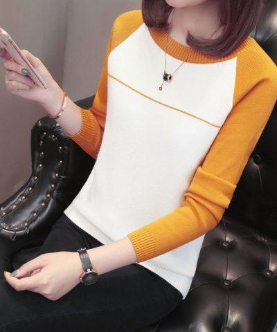 Áo len phối màu tay - hàng nhập Quảng Châu hình 2