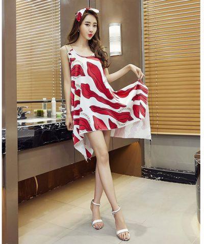 Đầm oversize vạt xéo cách điệu hình 2