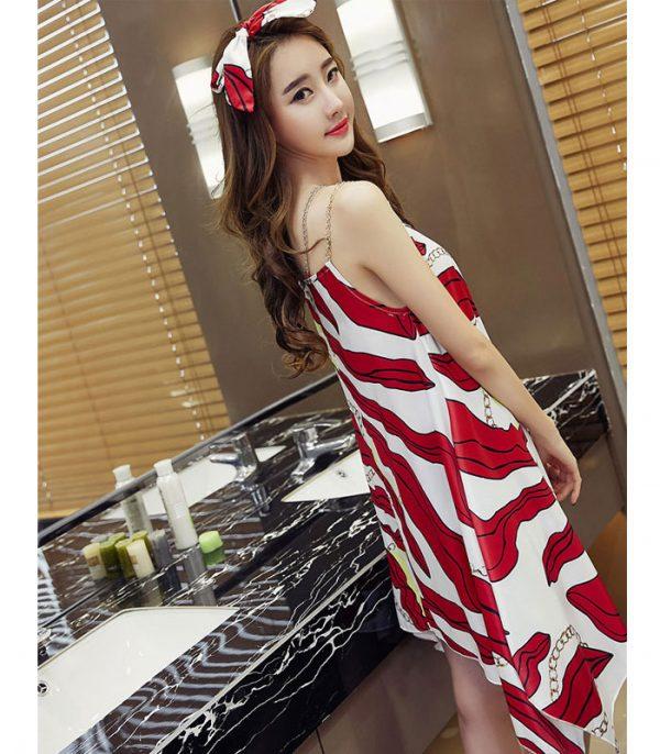 Đầm oversize vạt xéo cách điệu hình 1