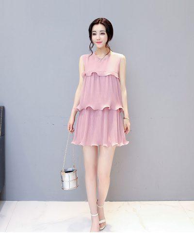 Đầm xòe dập ly 3 tầng cách điệu Quảng Châu hình 1