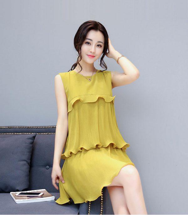Đầm xòe dập ly 3 tầng cách điệu Quảng Châu hình 2