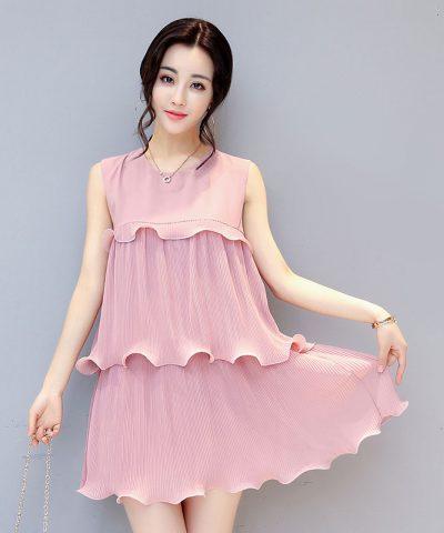 Đầm xòe dập ly 3 tầng cách điệu Quảng Châu hình 3