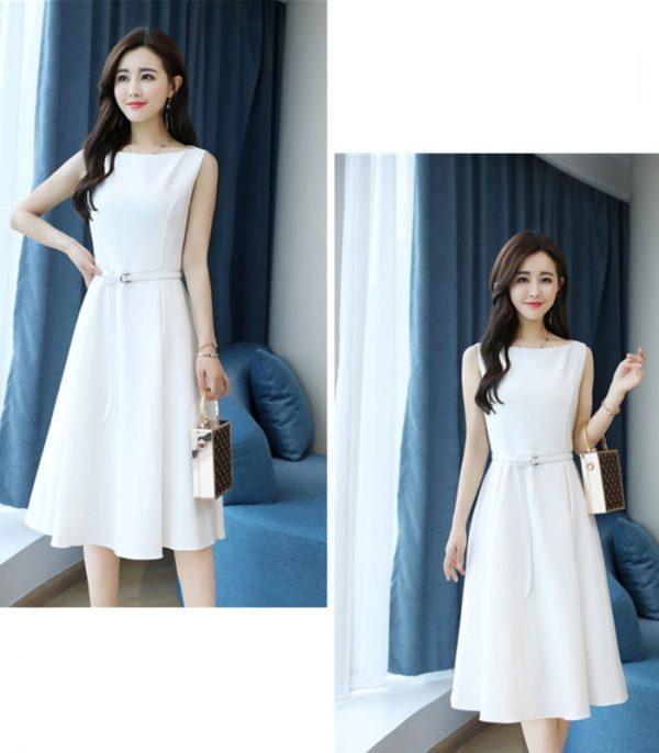 Đầm xòe dự tiệc xếp ly cao cấp Hàn Quốc