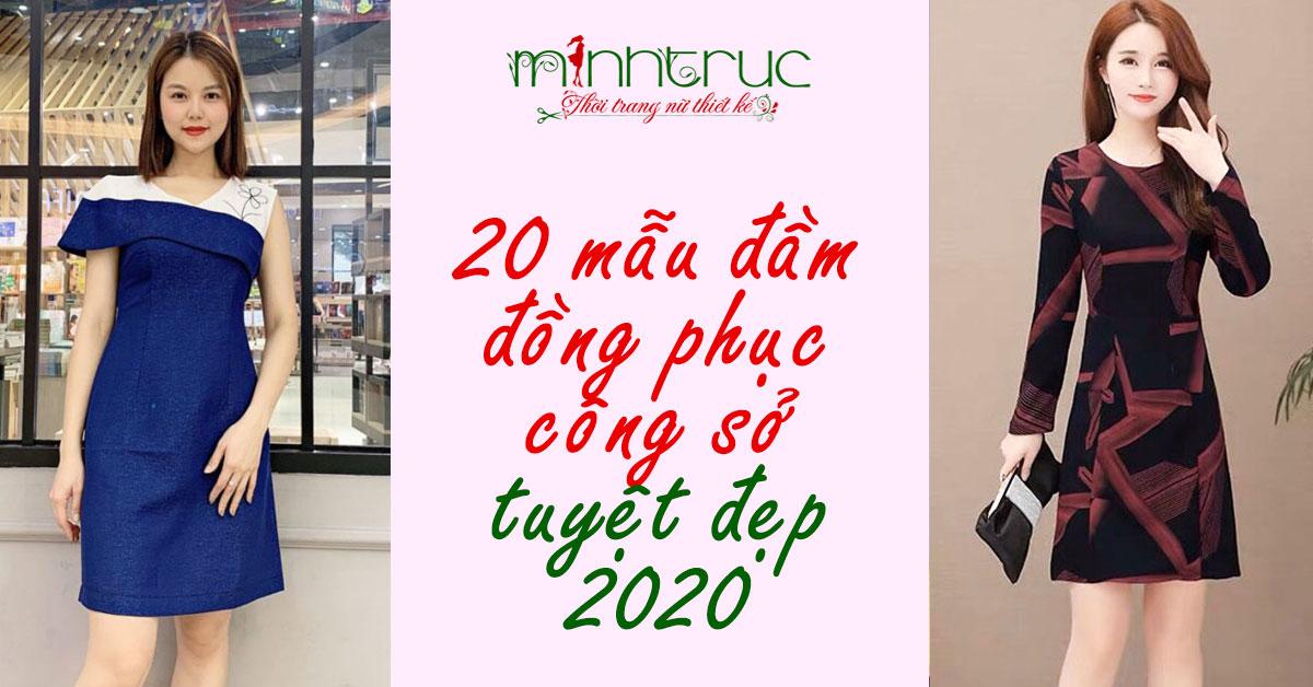 20 Mẫu Đầm Đồng Phục Công Sở Tuyệt Đẹp 2020