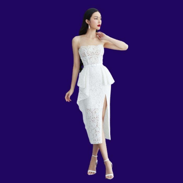Đầm body ren